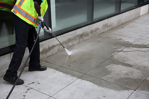 Power Washing Cement